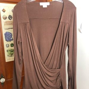 Michael Kors brown blouse medium